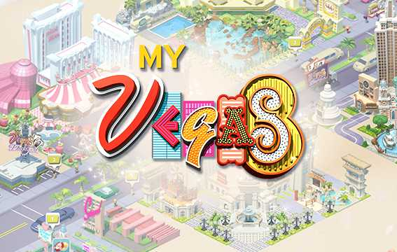 Image of myVEGAS Slots Facebook game cover.