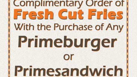FREE CUT FRIES /w PURCHASE