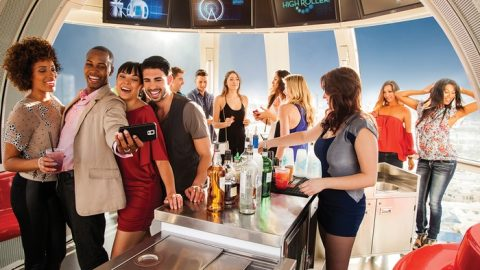 High Roller & Madame Tussauds Admission and Open Bar