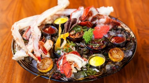 Seafood Tower & Wine for Two